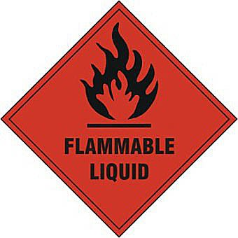 Flammable liquid - SAV (100 x 100mm)