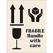 Fragile Handle with Care Stencil (300 x 400mm)