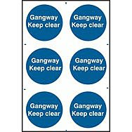 Gangway Keep clear - PVC (200 x 300mm)