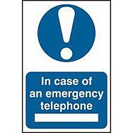 In case of emergency telephone - PVC (200 x 300mm)