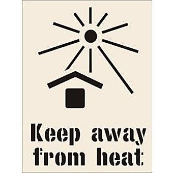 Keep Away From Heat Stencil (190 x 300mm)