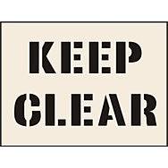 Keep Clear Stencil (300 x 400mm)