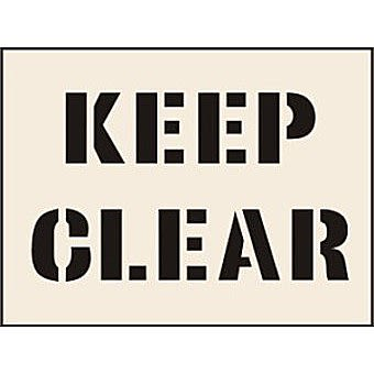 Keep Clear Stencil (300 x 400mm)