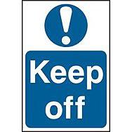 Keep off - PVC (200 x 300mm)