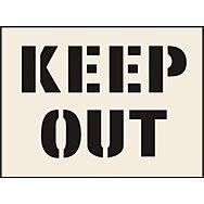 Keep Out Stencil (190 x 300mm)
