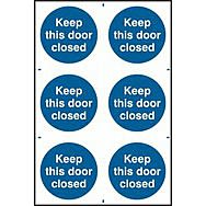 Keep this door closed - PVC (200 x 300mm)