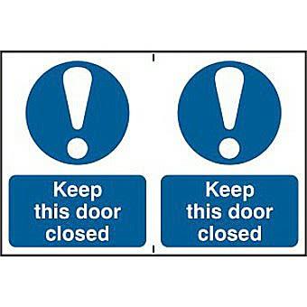 Keep this door closed - PVC (300 x 200mm)