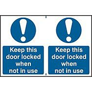 Keep this door locked when not in use - PVC (300 x 200mm)