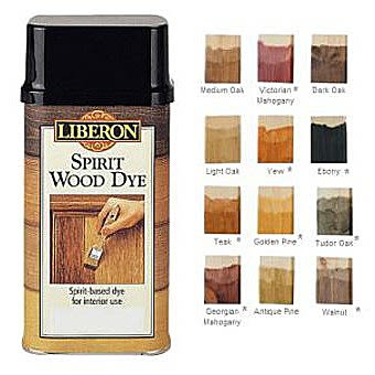 Liberon Spirit Wood Dye 250ml - Ebony