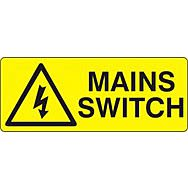 Mains Switch  - SAV (96 x 38mm, sheet of 15 labels)