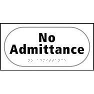 No admittance - Taktyle (300 x 150mm)