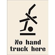 No Hand Truck Here Stencil (190 x 300mm)