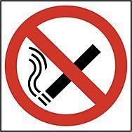 No smoking symbol (Multipack of 10) - SAV (100 x 100mm) (Pack of 10)