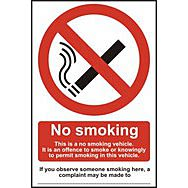 No smoking This is a no smoking vehicle… - CLG (100 x 150mm)