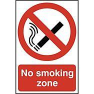 No smoking zone - PVC (200 x 300mm)