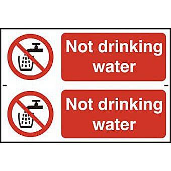 Not drinking water - PVC (300 x 200mm)