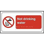 Not drinking water - Taktyle (300 x 150mm)