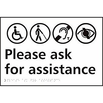 Please ring for assistance - Taktyle (300 x 200mm)