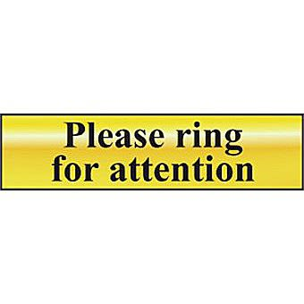 Please ring for attention - POL (200 x 50mm)