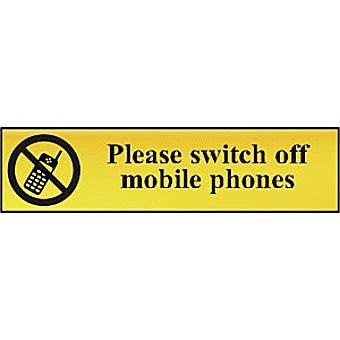 Please switch off mobile phones - POL (200 x 50mm)