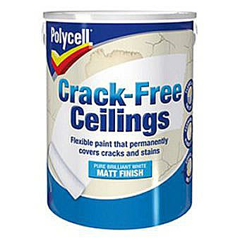 Polycell Crack-Free Ceiling Paint 2.5L - White