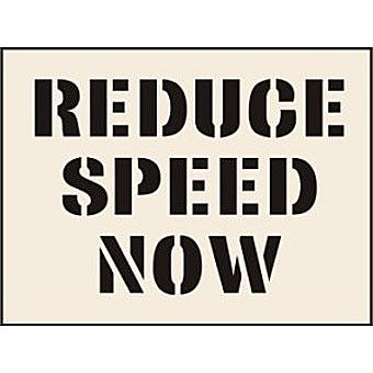 Reduce Speed Now Stencil (600 x 800mm)