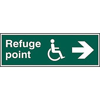 Refuge point arrow right - PVC (450 x 150mm)