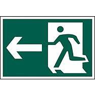 Running man arrow left - PVC (600 x 400mm)