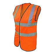Scan High Visibility Waistcoat Large Orange