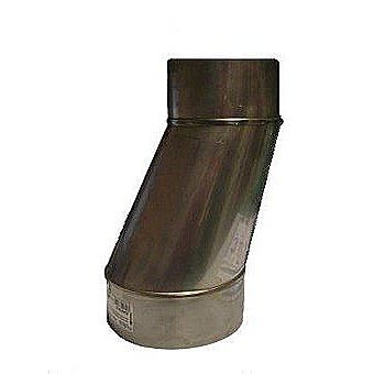 "Schiedel 5"" x 8"" Stainless Steel Offset Flue Adaptor"