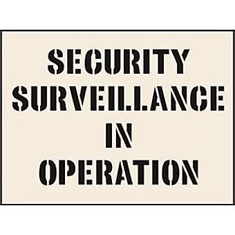 Security Surveillance In Operation Stencil (300 x 400mm)