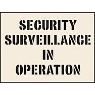Security Surveillance In Operation Stencil (400 x 600mm)