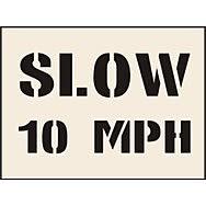 Slow 10 mph Stencil (190 x 300mm)