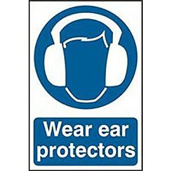 Spectrum 0005 Wear Ear Protectors Sign