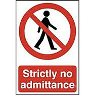 Spectrum 0608 Strictly No Admittance Sign