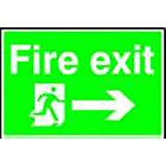 Spectrum 4200 Fire Exit And Running Man With Arrow To Right Sign