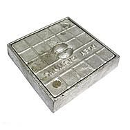 Square Alloy Seal Plate 120 x 120mm
