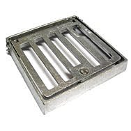 Square Alloy Seal Plate 150 x 150mm Hinge & Lock