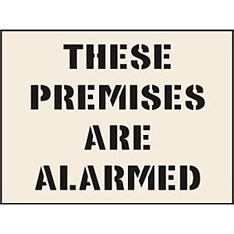 These Premises Are Alarmed Stencil (190 x 300mm)