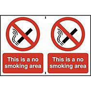This is a no smoking area - PVC (300 x 200mm)