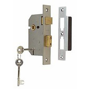 "Union 2 Lever Mortice Lock 2 1/2"" Polished Chrome Y2295CH63"