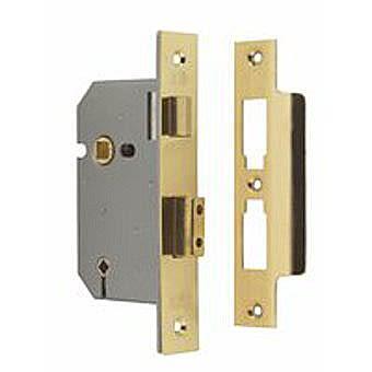 """Union Bathroom Mortice Lock 2 1/2"""" Polished Brass Y2294PB63"""