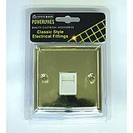Victorian Brass Master Telephone Socket - White Switch