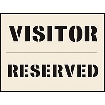 Visitor Reserved Stencil (190 x 300mm)