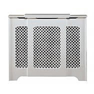 Classic Medium Adjustable White Radiator Cover - Winther Browne
