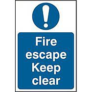 Mandatory Fire Safety Signs