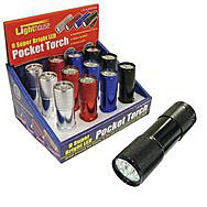 Lighthouse Pocket 9 LED Torch (3 x AAA Batteries)