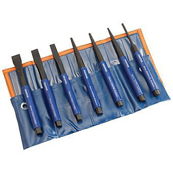 Draper 23187 Chisel And Punch Set With Plastic Grips 7 Piece Set