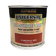RustOleum Universal All Surface Paint 250ml Cardinal Red