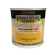 RustOleum Universal All Surface Paint 250ml Canary Yellow